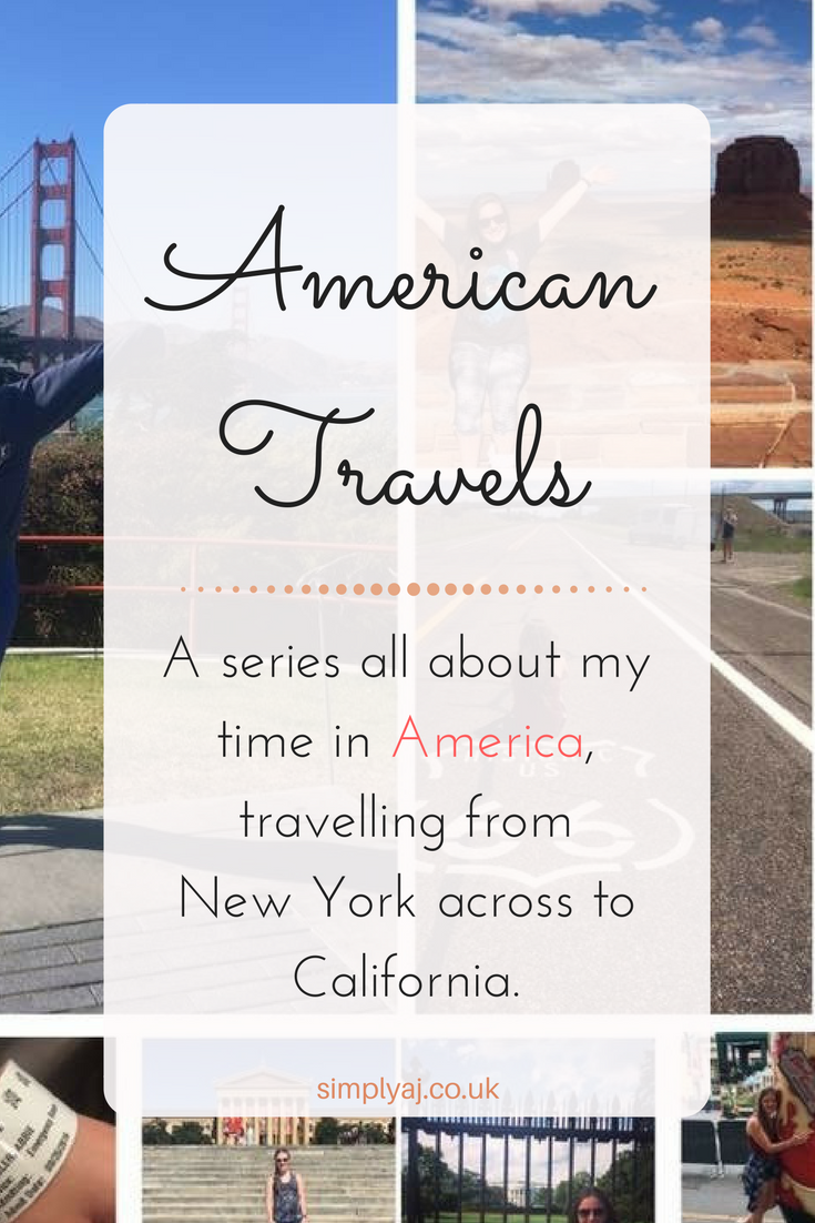 An introduction to my American travel series where I'll be posting about my journey from New York to California.