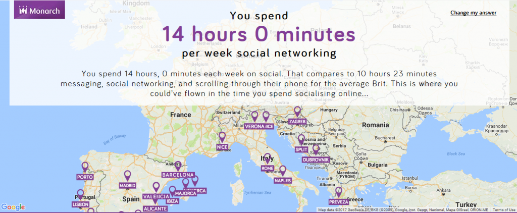 Here's where I could have travelled to in the time I've spent procrastinating!