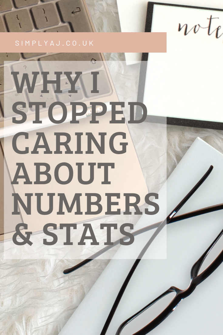 Talking about blogging, social media and why I've stopped caring about numbers and stats.